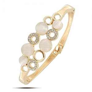 Best Valentine Gift : YouBella Jewellery Valentine Collection Crystal Charm Bangle Bracelet For Girls and Women