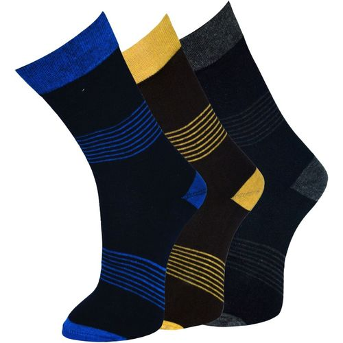 Marc Men Striped Mid-Calf/Crew(Pack of 3)