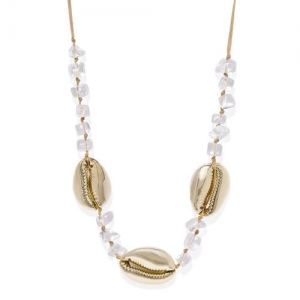 Pipa Bella White Metal Necklace