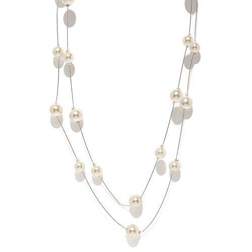 Zaveri Pearls Multi Strand Necklace for Women (Off White) (ZPFK5323)