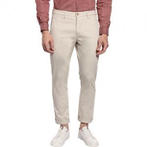 Blackberrys Skinny Fit Men Cream Trousers