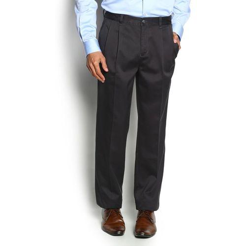 Blackberrys Regular Fit Men Grey Trousers