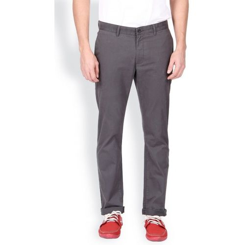 Blackberrys Slim Fit Men Grey Trousers