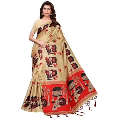 8cee435a44 Buy Medlly Self Design Fashion Khadi Silk Saree(Beige) online ...