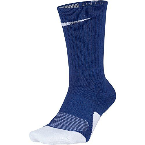 NIKE Men's Cotton Athletic Socks (SX5593-480_Game Royal White_Medium)