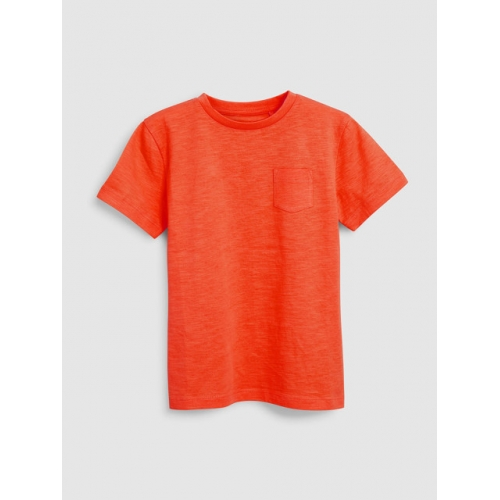 next Boys Orange Solid Round Neck T-shirt