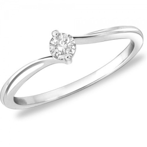 Peora Classic Proposal Sterling Silver Rhodium Plated Ring