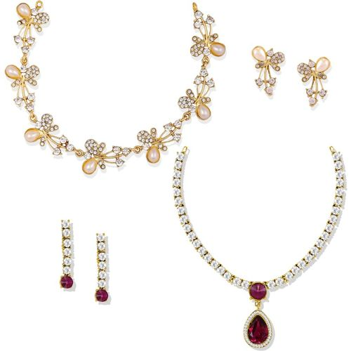 Zaveri Pearls Zinc Jewel Set(Multicolor)