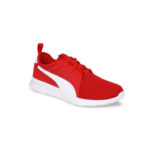 Buy Puma Unisex Red \u0026 White Mesh Flex