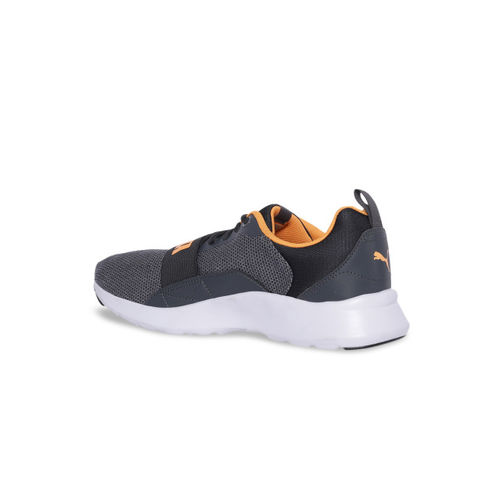 Puma Grey Wired Knit Mid Top Running Shoes