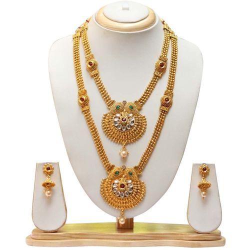 Swarajshop Alloy Jewel Set(Gold)