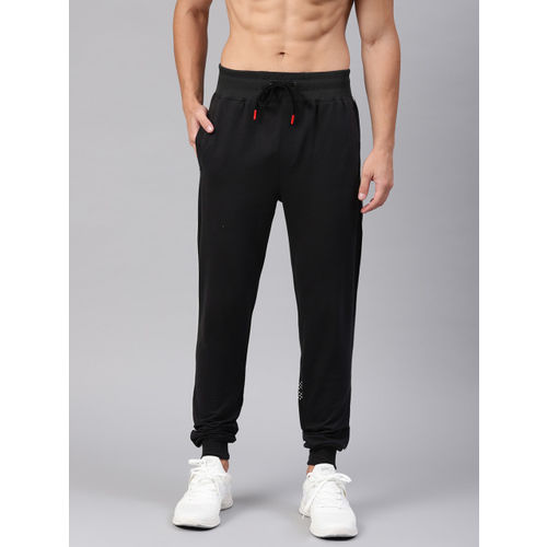 HRX by Hrithik Roshan Men Black Solid Lifestyle Slim fit Track Pants