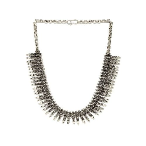 Rubans Kerela Silver Casual Necklace