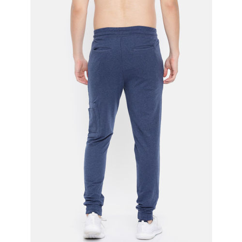 HRX by Hrithik Roshan Men Navy Blue Solid Slim Fit Athleisure Joggers