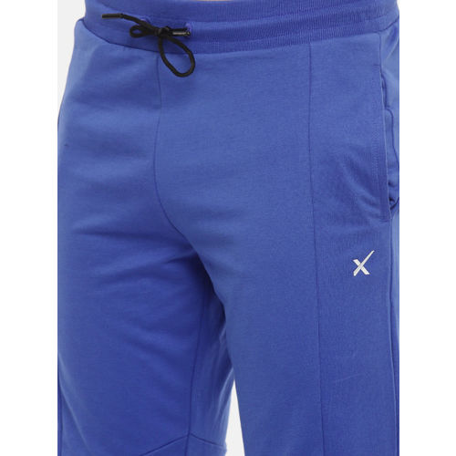 HRX by Hrithik Roshan Men Blue Solid Slim Fit Athleisure Joggers