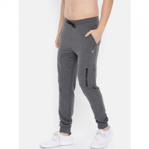 HRX by Hrithik Roshan Men Charcoal Grey Solid Slim Fit Athleisure Joggers