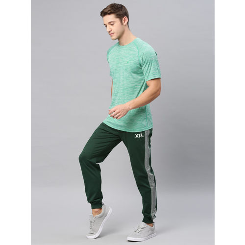 HRX by Hrithik Roshan Men Green Solid Slim Fit Lifestyle Joggers