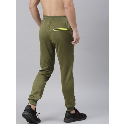 HRX by Hrithik Roshan Men Olive Green Solid Slim Fit Rapid Dry Running Joggers