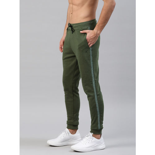 HRX by Hrithik Roshan HRX Active by Hrithik Roshan Men Olive Green Solid Joggers