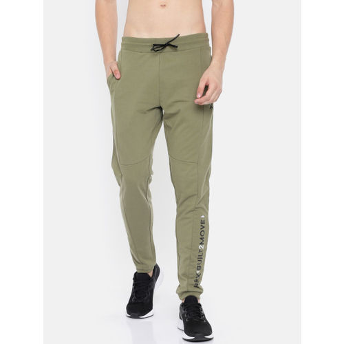 HRX by Hrithik Roshan Men Olive Green Athleisure Joggers