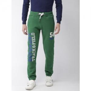 Superdry Men Green Printed Slim Fit Joggers