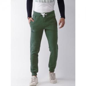 Superdry Men Green Solid Jogger