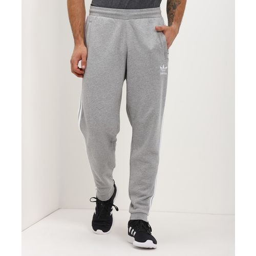 ADIDAS Striped Men Grey Track Pants