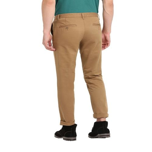 John Players Brown Mid Rise Chinos