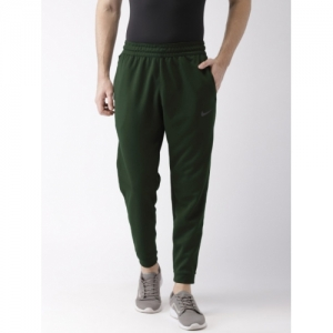Nike Men Olive Green Solid Standard Fit SPOTLIGHT DRI-FIT Technology Joggers