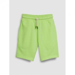 next Boys Fluorescent Green Solid Regular Fit Regular Shorts