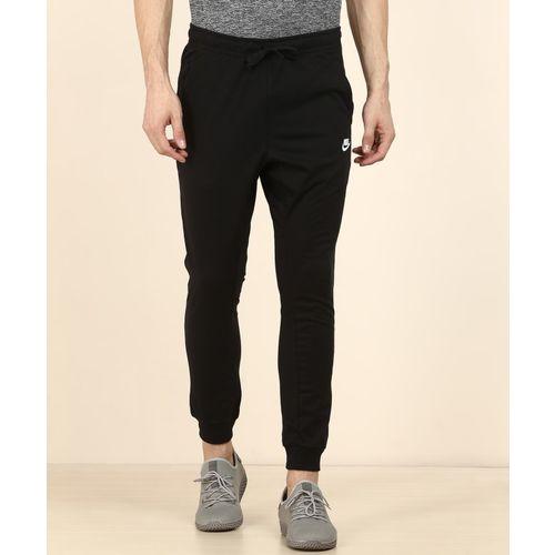 Nike Solid Men Black Track Pants