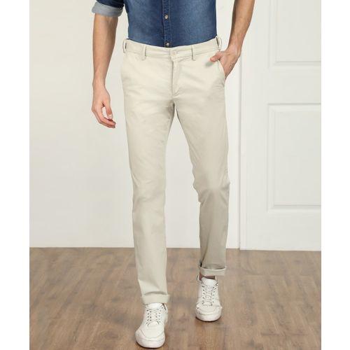 Indian Terrain Slim Fit Men Beige Trousers