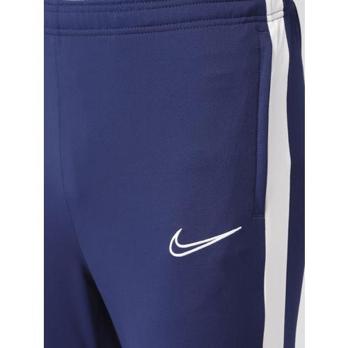 Nike Men Blue Solid Slim Fit ACDMY KP Dri-FIT Football Joggers