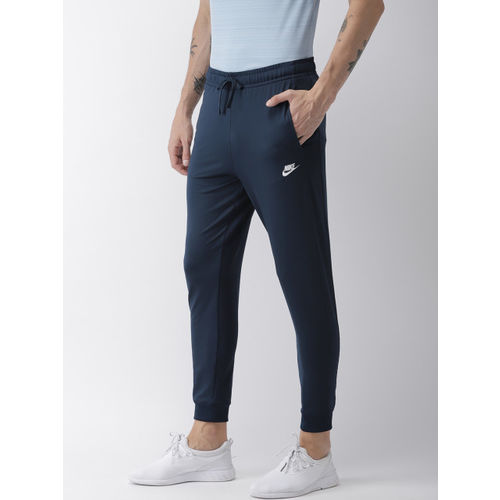 Nike Men Navy Blue Solid Standard Fit AS M NSW CE PK Joggers