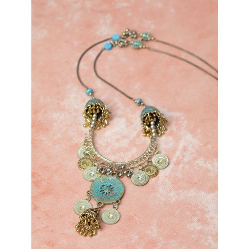 DIVA WALK Women Gold-Plated Brass Handcrafted Necklace