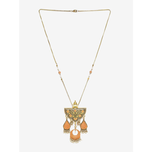 DIVA WALK Gold-Toned Metal Handcrafted Necklace