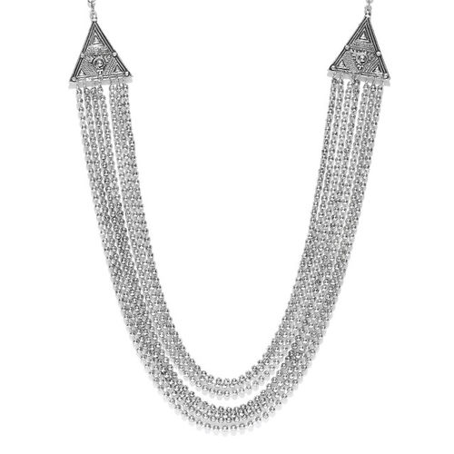 Infuzze Silver-Toned Layered Necklace