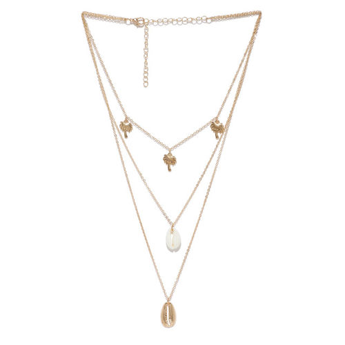 OOMPH Gold-Toned Alloy Layered Necklace