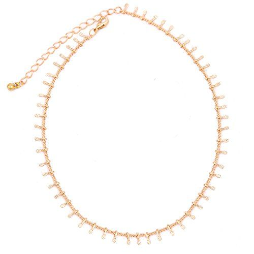 OOMPH Jewellery Gold Tone Delicate Fashion Necklace for Women & Girls (NSSK40) - Gold