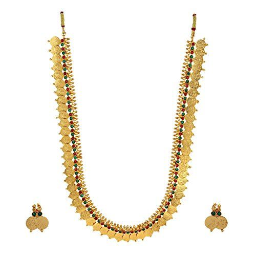 Panash Gold Grace Ethnic Beads Necklace Set for Women & Girls
