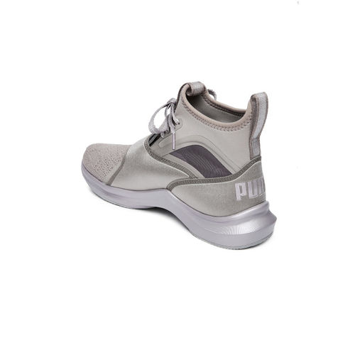 Puma Women Gunmetal-Toned Phenom EP Wn s High-Top Running Shoes