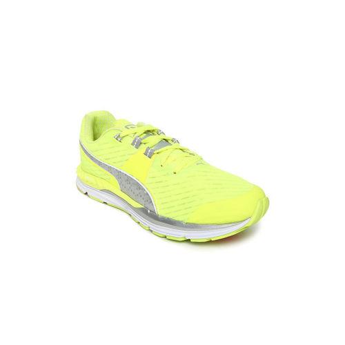 Puma Women Fluorescent Green Speed 600 Ignite PWRCOOL Running Shoes