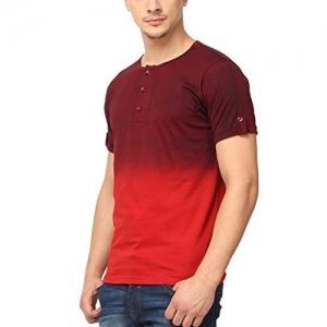 Campus Sutra Men's Cotton Henley T-Shirt