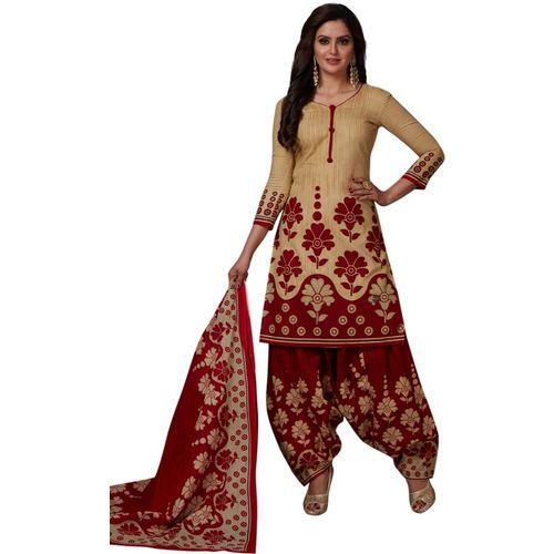 Reya Cotton Blend Printed Salwar Suit Material(Unstitched)