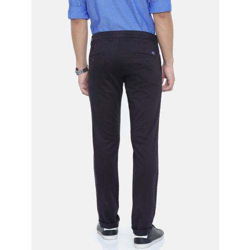 Parx Men Black Lowell Tapered Fit Solid Chinos