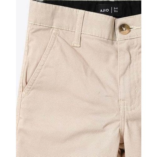 AJIO Flat-Front Mid-Rise Shorts