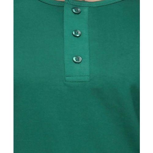 Campus Sutra Bottle Green Henley Cotton T-Shirt