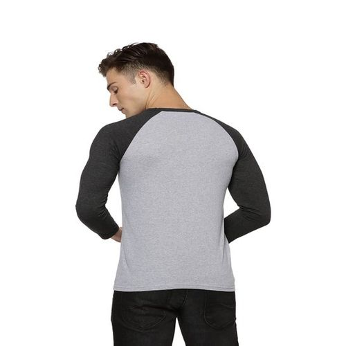 Campus Sutra Grey Henley T-Shirt