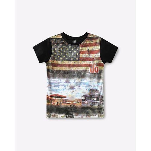 UFO Graphic Print Crew-Neck T-shirt