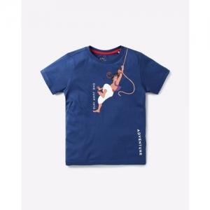 AJIO Aladdin Print Round-Neck T-shirt